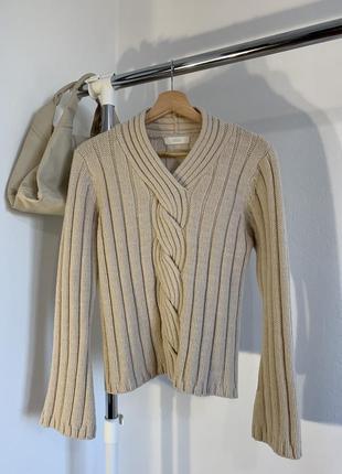 Шикарный бежевый свитер marks&spencer