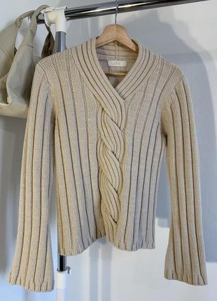 Шикарный бежевый свитер marks&spencer4 фото