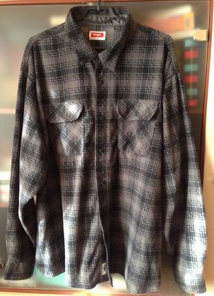 Wrangler фирменная стильная флисовая рубашка
