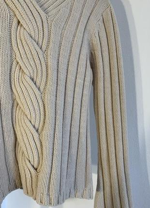 Шикарный бежевый свитер marks&spencer5 фото