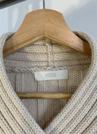 Шикарный бежевый свитер marks&spencer6 фото