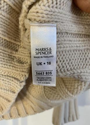 Шикарный бежевый свитер marks&spencer7 фото