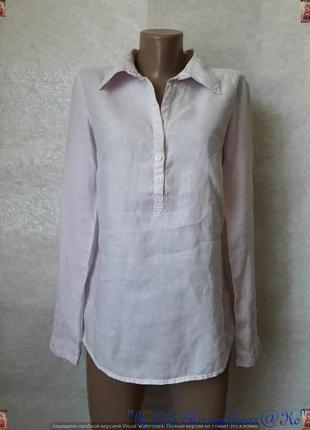 Фирменная h&m блуза/рубашка со 100 % льна приятного пудровго цвета, размер с-м