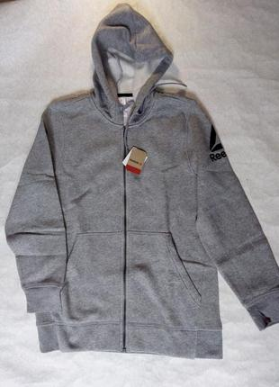Мужская кофта hoodie reebok us stocked logo  рm оригинал
