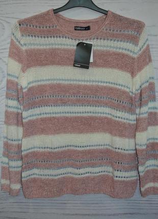 Красивый вязаный свитер takko fashion размер m