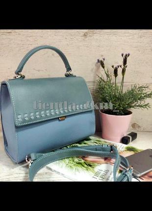 Женская сумка через плечо / клатч с косичкой david jones 6244-1t голубой