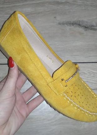 Мягкие балетки женские мокасины туфли