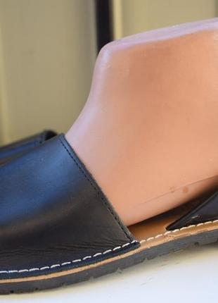 Кожаные менорки абаркасы сандали босоножки