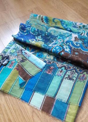 Колоритный палантин,шарф 💯тонкая шерсть oliver grant.