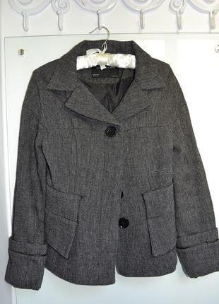 Демисезонное серое пальто zara размер s 26