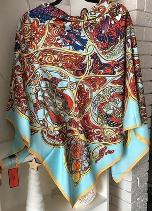 Шикарный шелковый платок шарф