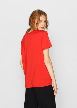 -10% на все!!! футболка червона котонова stradivarius4 фото