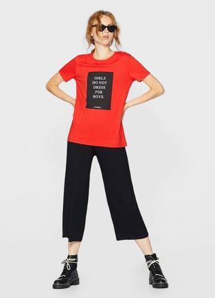 -10% на все!!! футболка червона котонова stradivarius5 фото
