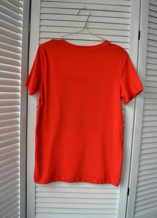 -10% на все!!! футболка червона котонова stradivarius7 фото