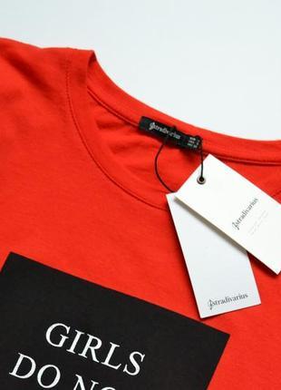 -10% на все!!! футболка червона котонова stradivarius9 фото