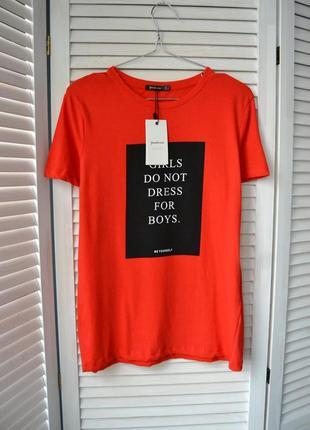-10% на все!!! футболка червона котонова stradivarius10 фото