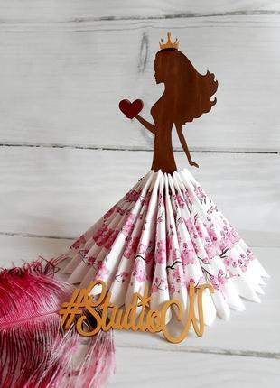 "Салфетница ""принцесса с сердцем"" 27х12,5 на 36 салфеток"