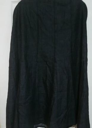 Длинная джинсовая юбка трапеция на красивые формы