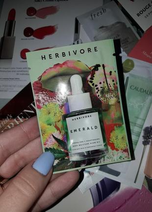 Увлажняющее масло для лица herbivore emerald cbd adaptogens deep moisture glow oil пробник