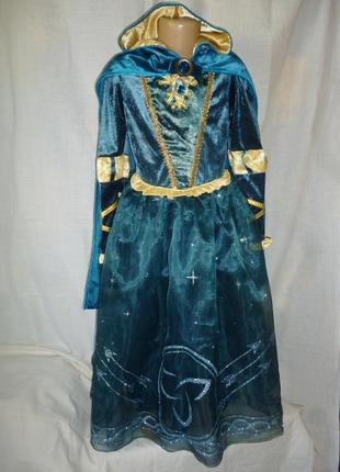 Платье принцессы мериды на 7-8 лет