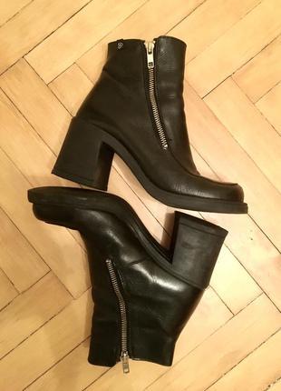 Роскошные винтажные ботильоны ботинки туфли квадратный носок 90е ретро