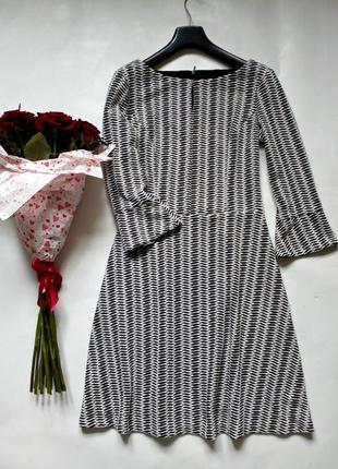 Теплое фактурное платье с подкладкой xs-s-m