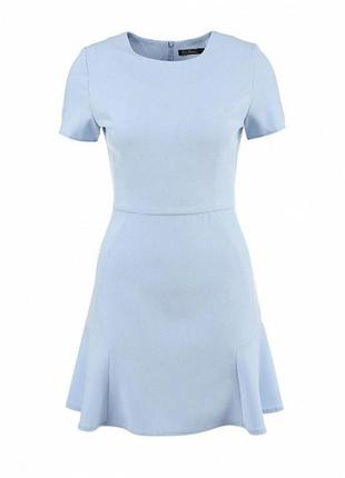Небесно-голубое платье от кира пластинина