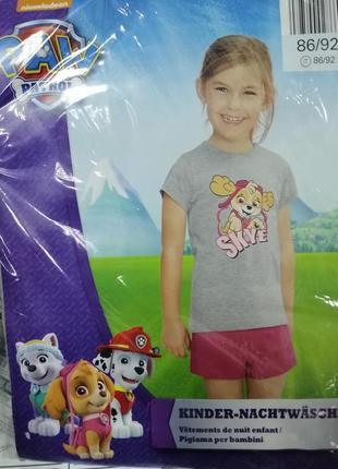 Набор футболка шорты щенячий патруль skay