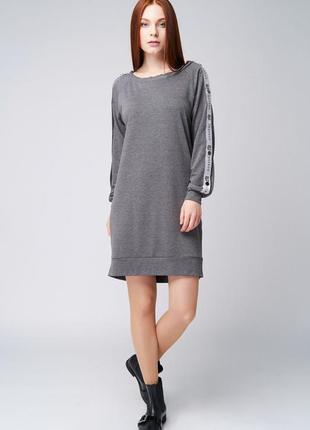 Платье-реглан с кнопками ganveri