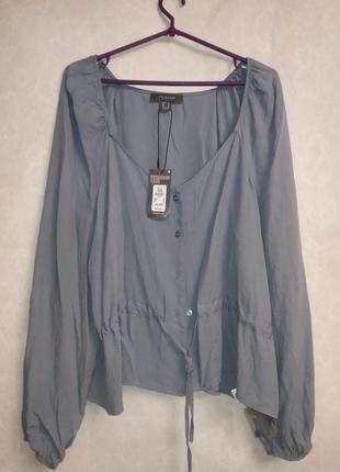 Стильная блузка на пуговичках из натуральной ткани