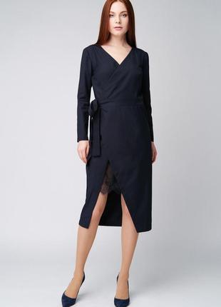 Платье на запах с кружевом ganveri