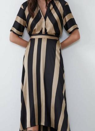 Красивое нарядное платье от zara, л