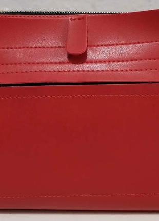 Женский стильный клатч (красный) 20-01-060