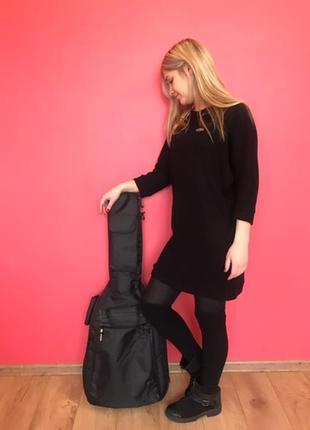 Невероятно стильные черные тунички из нежного вязаного трикотажа - для мамы и дочки
