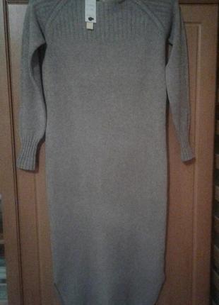 Отличное теплое платье, размер м/л
