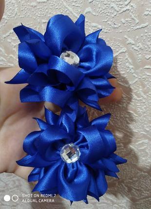 Резиночки в синем цвете