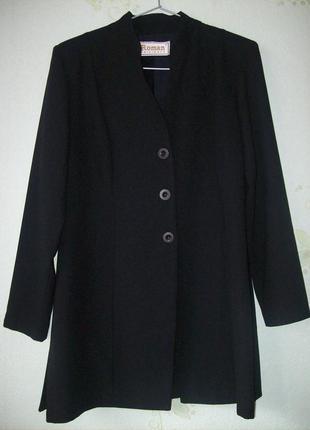 Длинный жакет из костюмной ткани, англия