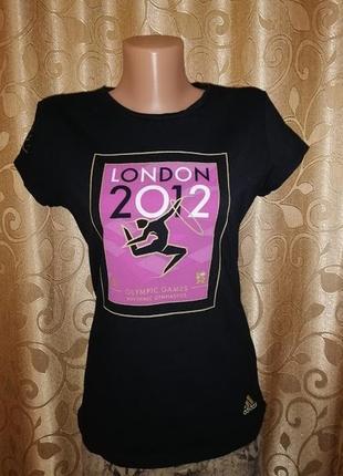 ✨✨✨стильная черная спортивная женская футболка adidas london 2012 olympic games✨✨✨