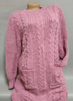Новое вязаное платье, размер м/л