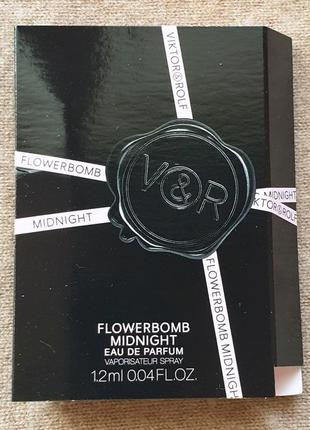 Пробник парфюма viktor & rolf - flowerbomb midnight