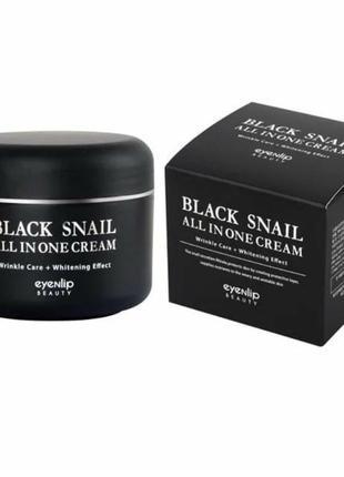 Крем для лица eyenlip black snail all in one cream