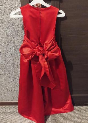 Бальное выпускное парадное платье красное