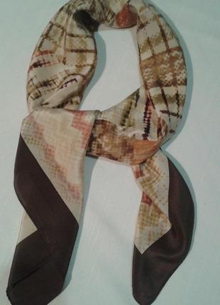 Платок шелковый в пастельных тонах хустина+300 платков шарфов на странице