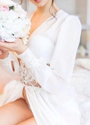 Будуарное платье, пеньюар для утра невесты 👰
