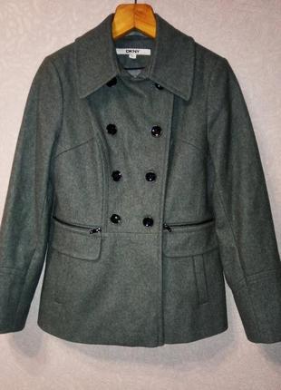Пальто винтаж шинель, полупальто, пиджак шерсть dkny!