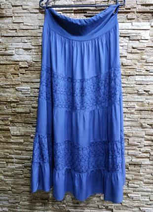 Красивая штапельная юбка