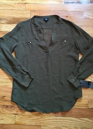 Новая блузка mossimo sheet army green  размер s оригинал из америки