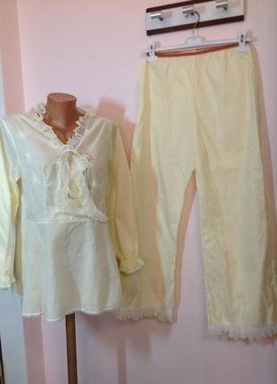 Итальянская светло жёлтая пижама/m/ brend vilfram