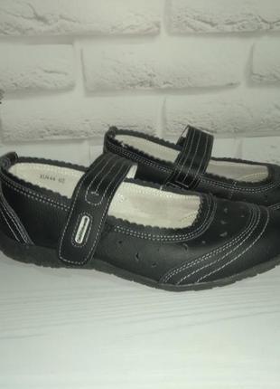 Кожаные туфли мокасины lifestyle р 39 на широк ногу