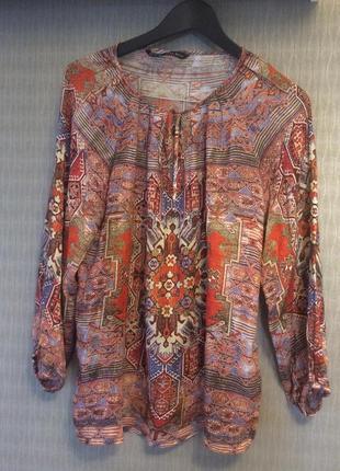 Блузка с восточным принтом zara basic morocco